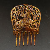Vintage Spanish Tortoise Hair Comb Large