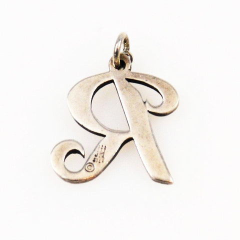 James Avery Sterling Script Initial R Charm Pendant