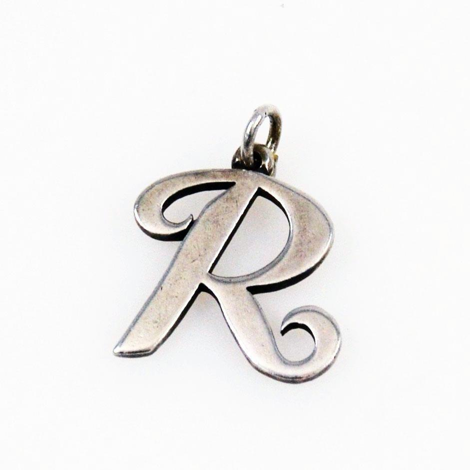 James Avery Sterling Letter R Charm Pendant