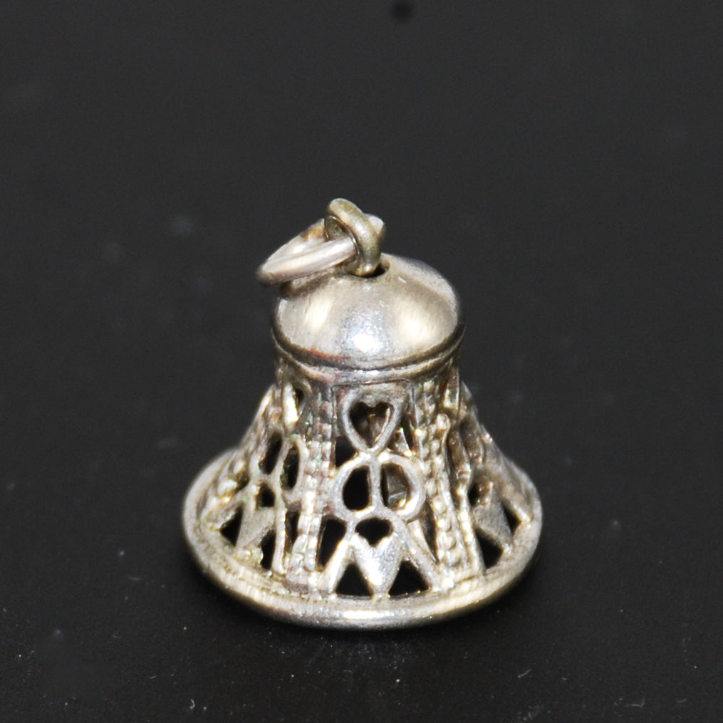Wells sterling silver bell charm