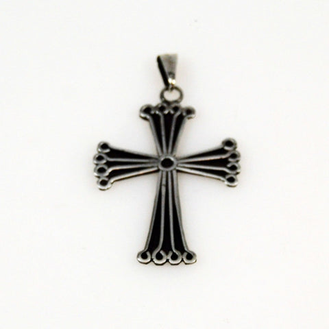 Sterling Cross Pendant Vintage Mexican Silver