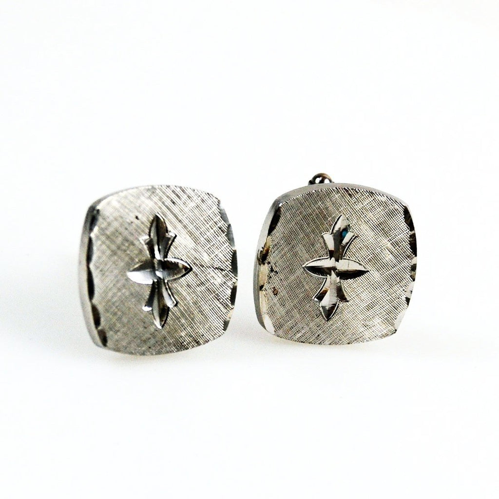 Sterling Silver Vintage Cuff Links P.R.K.