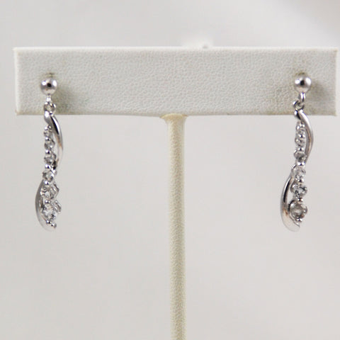 Sterling CZ Drop Earrings