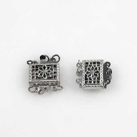 Sterling box clasp triple
