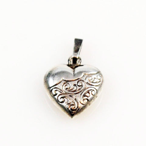 Sterling Heart Charm 1940's