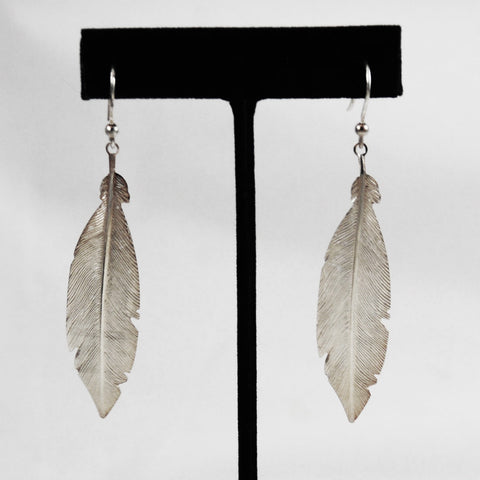 Sterling Leaf Earrings Vintage