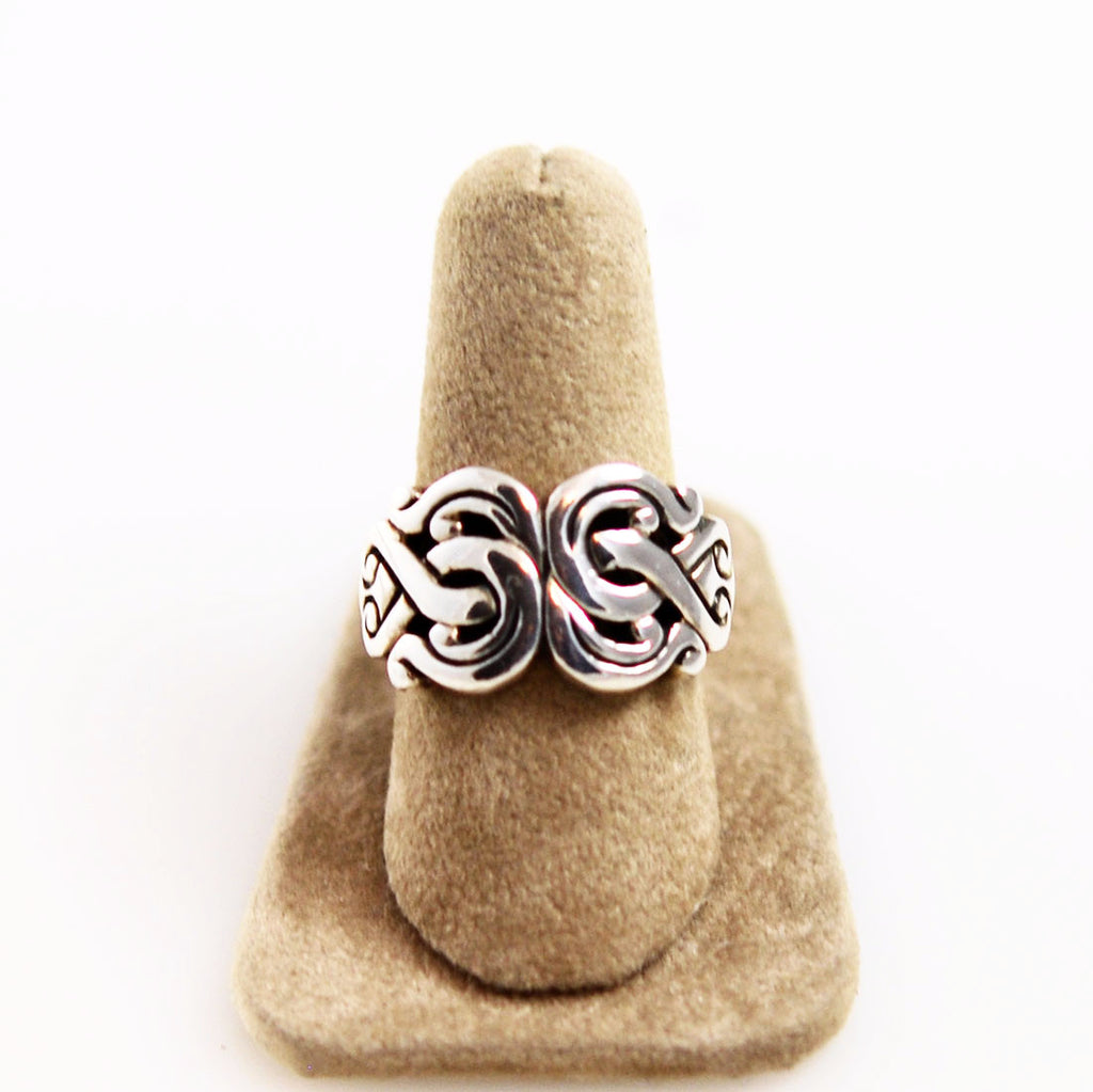 Sterling Silver Swirl Ring 7½