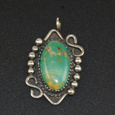 Sterling & Turquoise Pendant Vintage