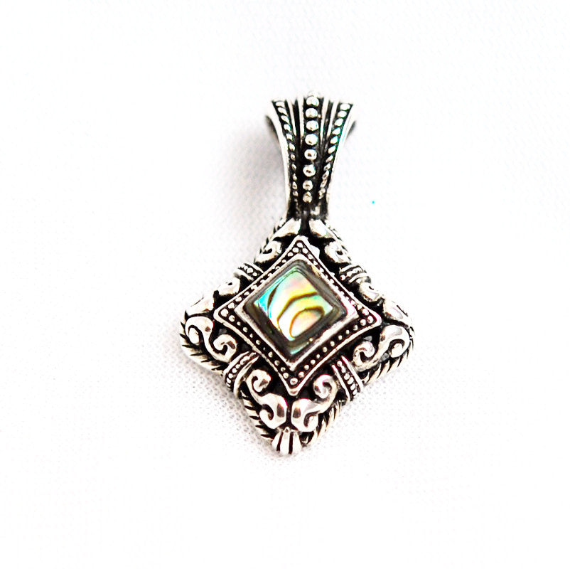Ornate Sterling Silver Abalone Pendant