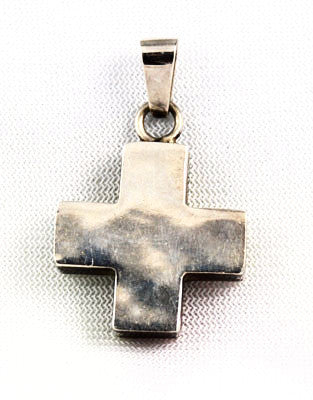 Sterling Silver Square Cross Pendant