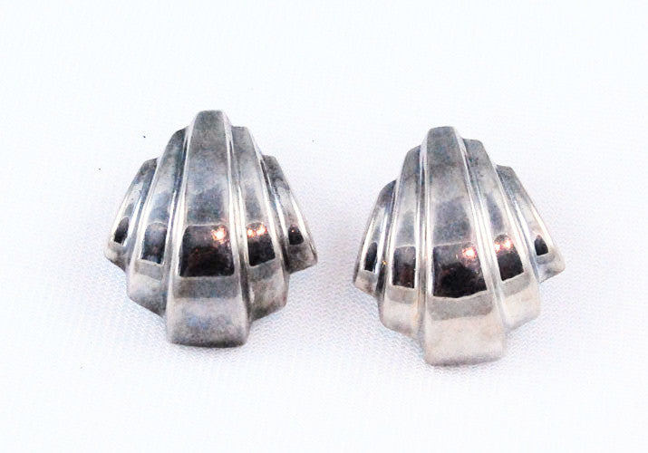 Sterling Contemporary Pierced Earrings