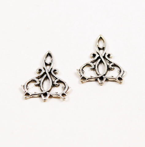 Sterling Silver Filigree Earring Component
