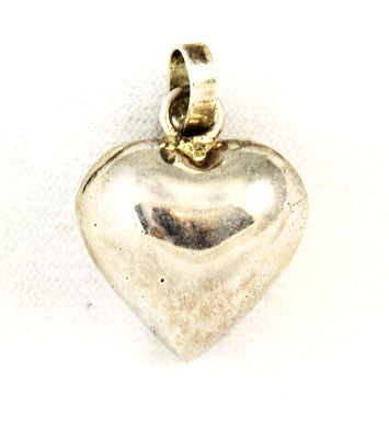 Sterling Puffy Heart Pendant