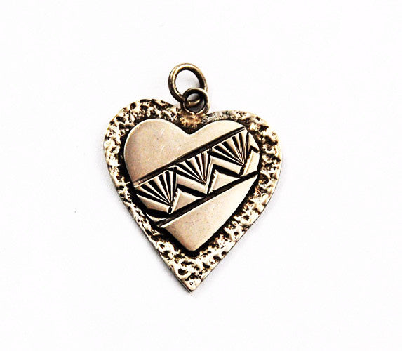 Native American Sterling Heart Charm