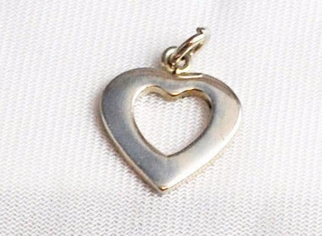 Sterling Silver Vintage Open Heart Charm