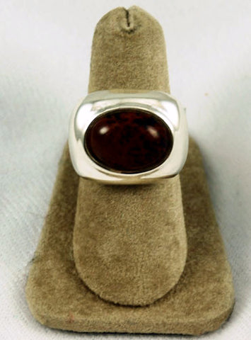 Mexican Mahogany Obsidian Sterling Silver Ring