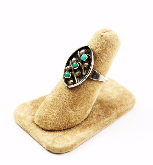 Turquoise and Sterling Native American Ring
