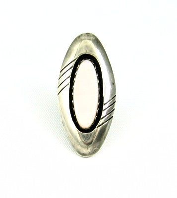 Native American Sterling & Mother of Pearl Ring