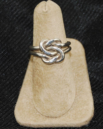 Handcrafted Sterling Silver Knot Ring 6