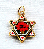 Star of David Micro Mosaic Pendant
