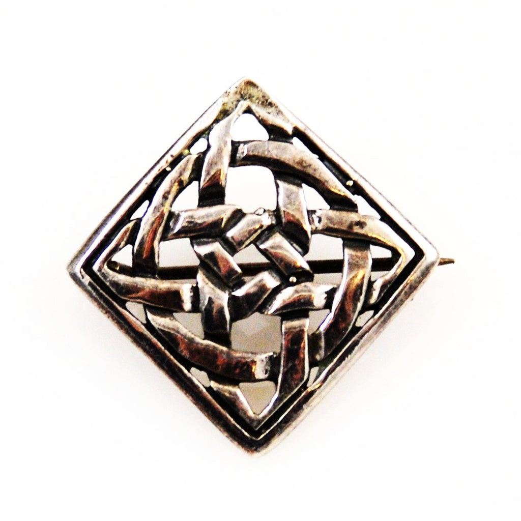 Sterling Celtic Eternity Knot Brooch