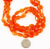 Sunstone gemstone oval beads