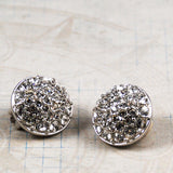 Swarovski Rhinestone Clip On Earrings
