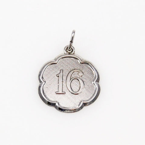 Sterling Silver Sixteen Charm Vintage