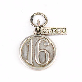 Sterling Silver Sweet Sixteen Charm