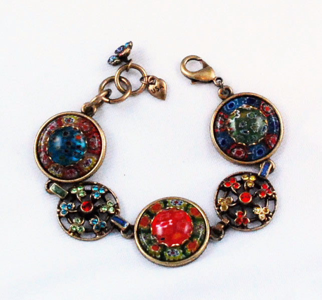 Sweet Romance colorful bracelet and earring set