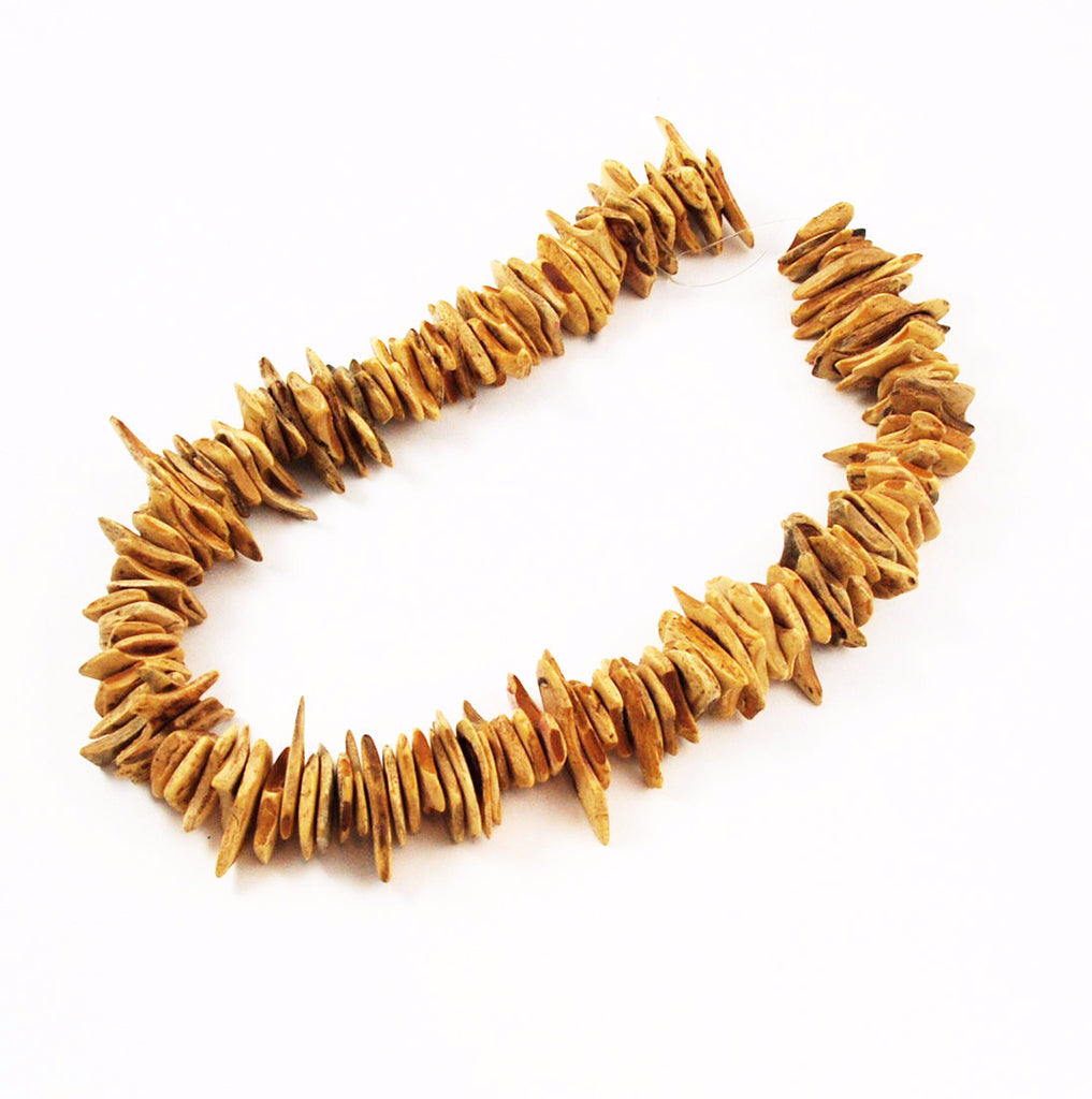 Natural Tan Coco Chip Bead Strands 18-22mm