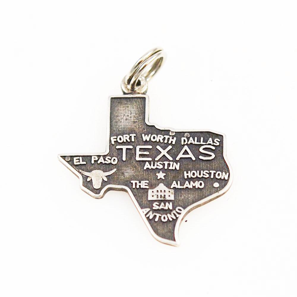 Vintage Silver Texas State Charm