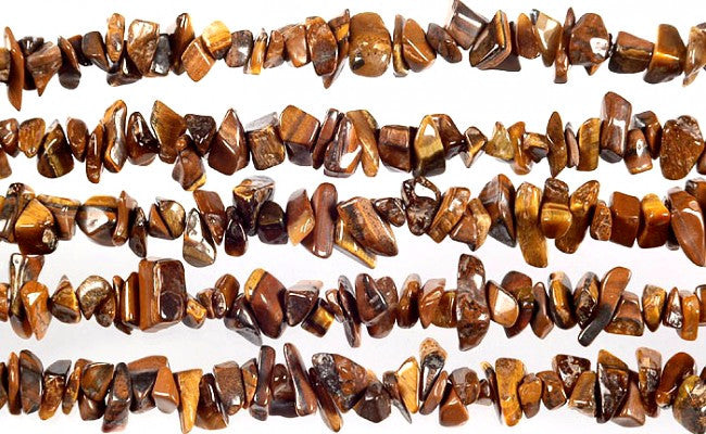Tiger's Eye Gemstone Chip Strand