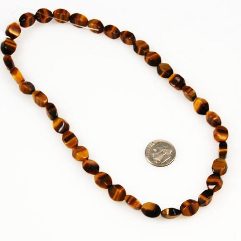 Tiger's Eye Fancy Oval Gemstone Strand
