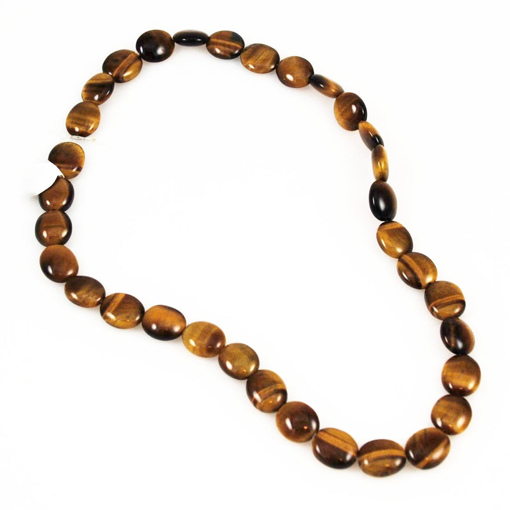 Tiger's Eye Oval Gemstone Strand