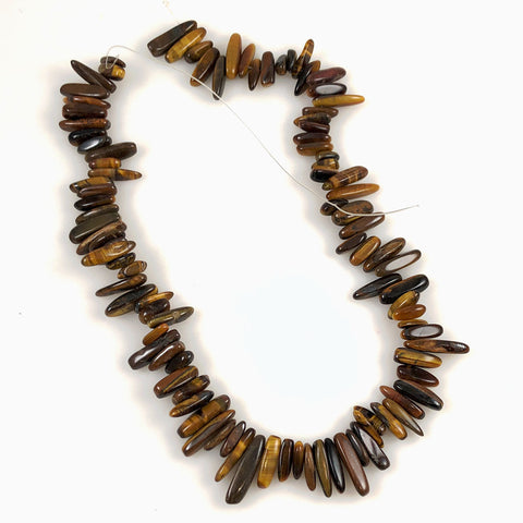 Tiger's Eye Beads Tooth Gemstone