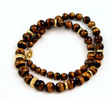 Tiger's Eye Gold Filled Bead Necklace