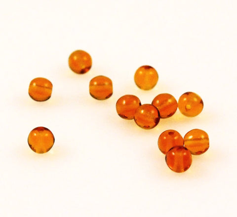 Topaz Round Glass Beads 5mm