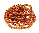 German 6mm Tortoise Glass Round Beads