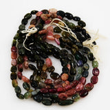 Multi-colored Tourmaline Oval Bead Strands