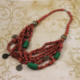 Red African Trade Bead Necklace