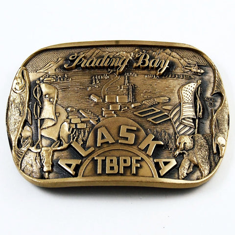 Trading Bay Alaska Brass Belt Buckle by ADM
