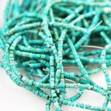 Natural Turquoise Heishe Beads 3mm