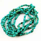 Turquoise Polished Nugget Beads 5mm