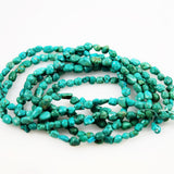Vintage Turquoise Polished Nugget Beads