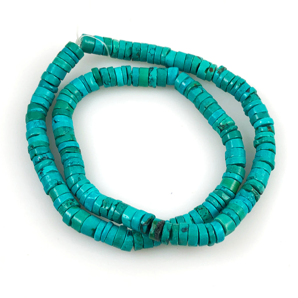 Genuine Turquoise Heishi Beads 7mm