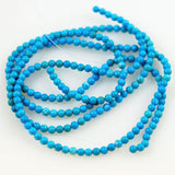Natural Turquoise Round Beads 3mm Vintage