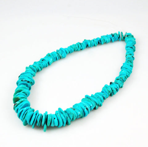 Genuine Turquoise Graduated Heishi Beads