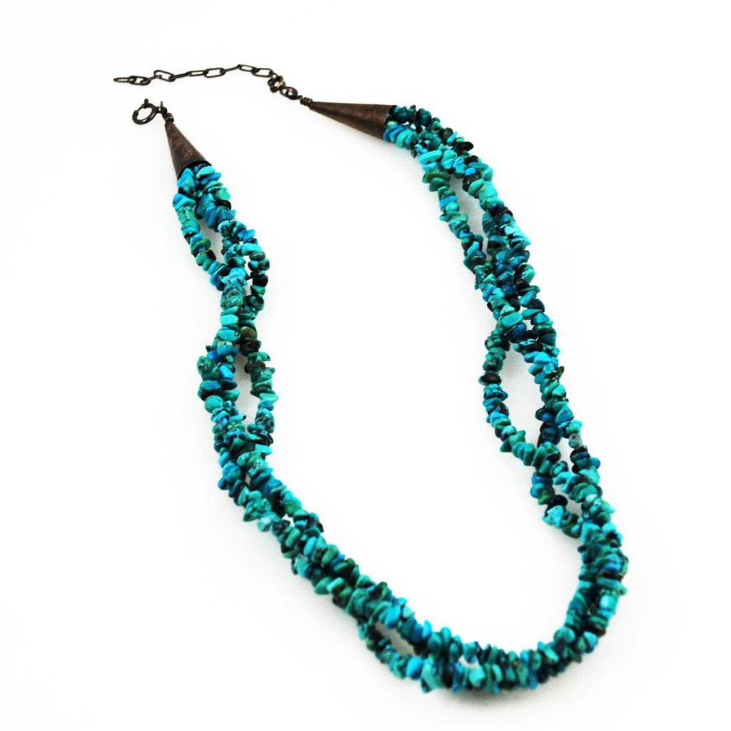 Turquoise & Sterling Necklace Native American