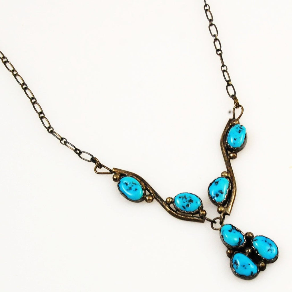 Kingman Turquoise & Sterling Necklace Native American